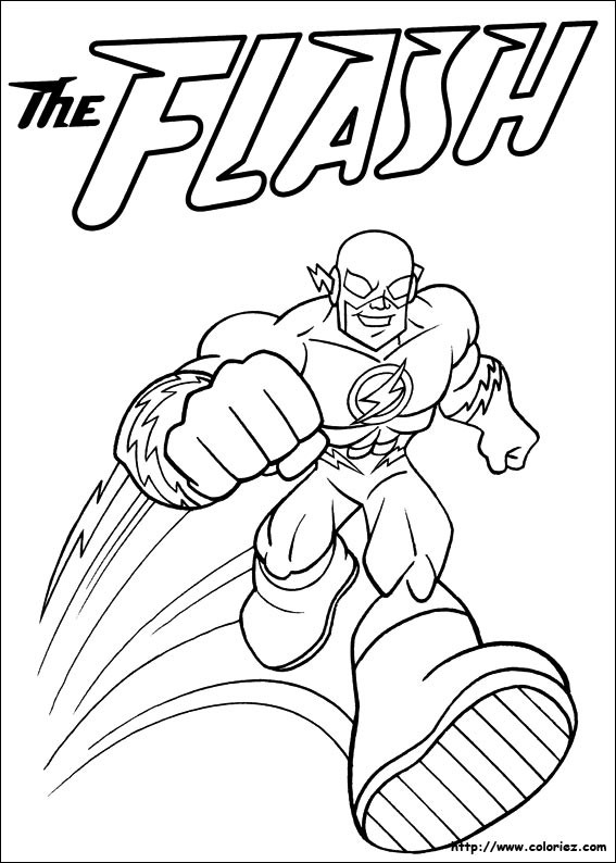 Coloriage Flash.Coloriage Flash Superhero Dessin Gratuit A Imprimer