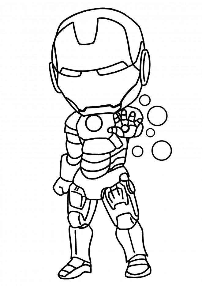 Coloriage et dessins gratuits Héro Iron Man en Miniature à imprimer
