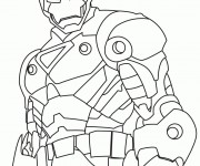 Coloriage Iron Man 14