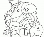 Coloriage Iron Man stylisé