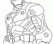 Coloriage et dessins gratuit Iron Man stylisé à imprimer