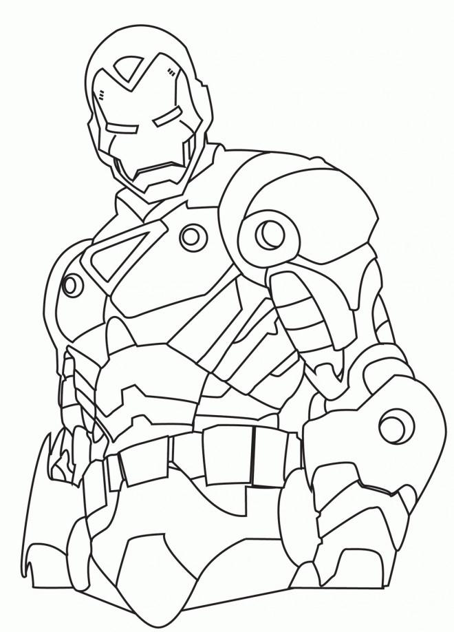 Coloriage et dessins gratuits Iron Man stylisé à imprimer