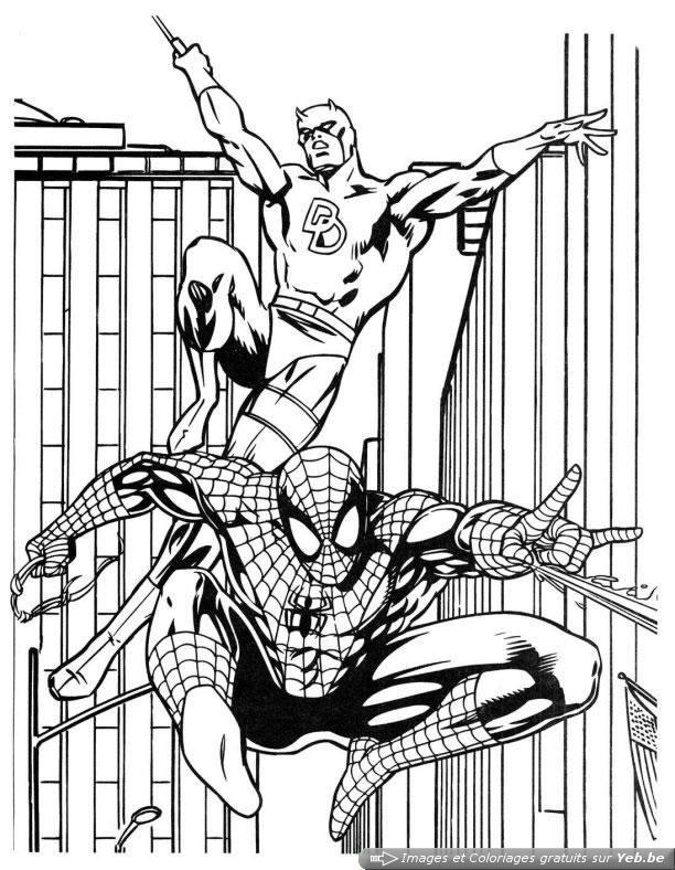 Coloriage et dessins gratuits Le Film de Spiderman à imprimer