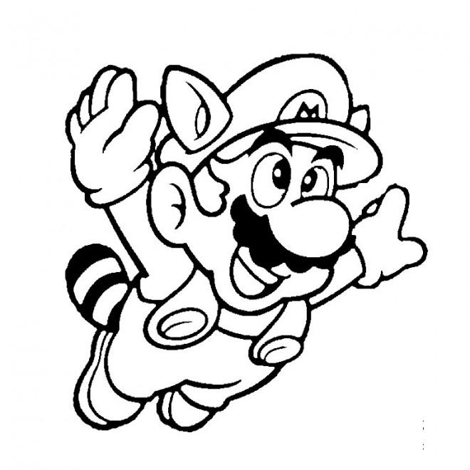 Coloriage et dessins gratuits Mario en volant à imprimer