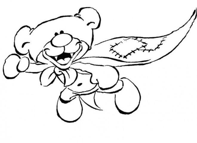 Coloriage et dessins gratuits Peluche Super Héro à imprimer