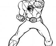 Coloriage et dessins gratuit Power Rangers Héro magique à imprimer