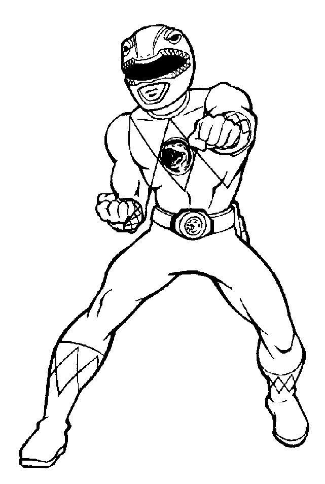 Coloriage et dessins gratuits Power Rangers Héro magique à imprimer