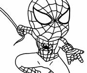 Coloriage Spiderman Héro à l'assaut