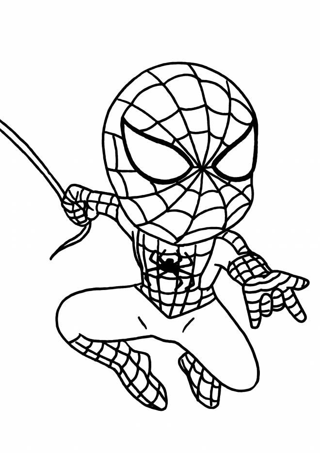 Coloriage et dessins gratuits Spiderman Héro à l'assaut à imprimer