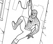 Coloriage Spiderman Le Héro protecteur