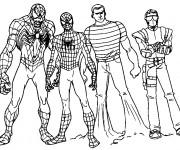 Coloriage Spiderman Super Héro