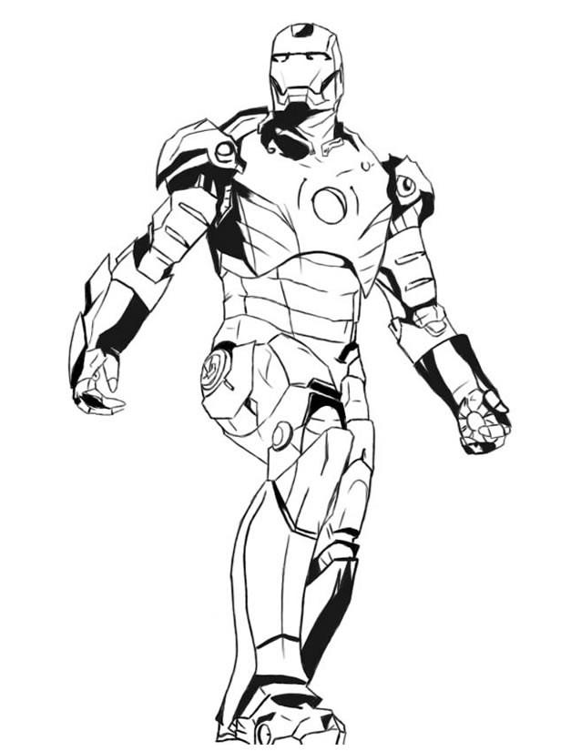 Coloriage Super Héro Avengers dessin gratuit à imprimer