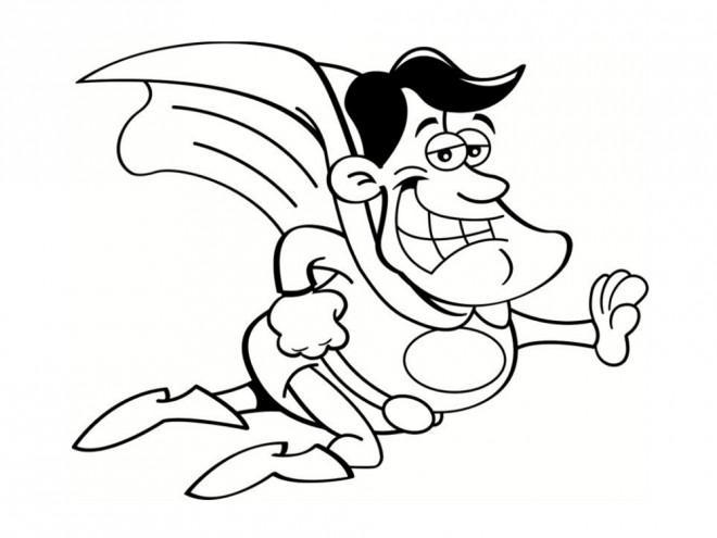 Coloriage et dessins gratuits Super Héro comique à imprimer