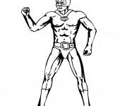 Coloriage Super Héro en noir et blanc