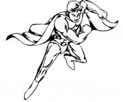 Coloriage Super Héro en vecteur