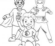 Coloriage et dessins gratuit Super Héro facile à imprimer
