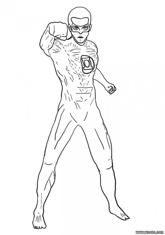 Coloriage super h ro facile dessin gratuit imprimer - Dessiner un super heros facile ...