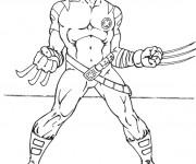 Coloriage Super Héro Logan