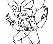 Coloriage Super Héro Logan facile