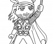 Coloriage Super Héro Thor