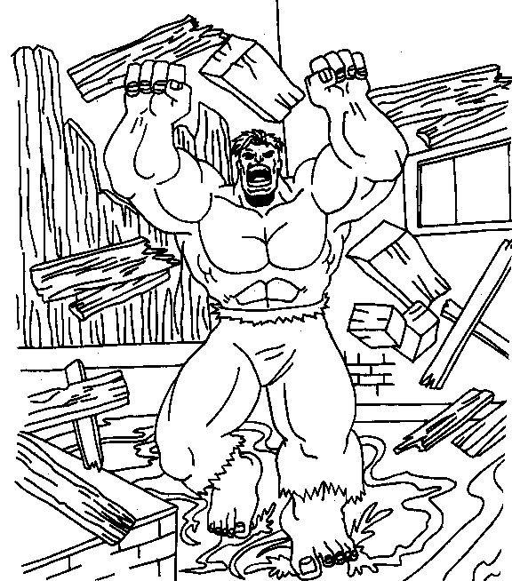 Coloriage et dessins gratuits Super Héro tout fort à imprimer