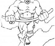 Coloriage Super Héro tout puissant