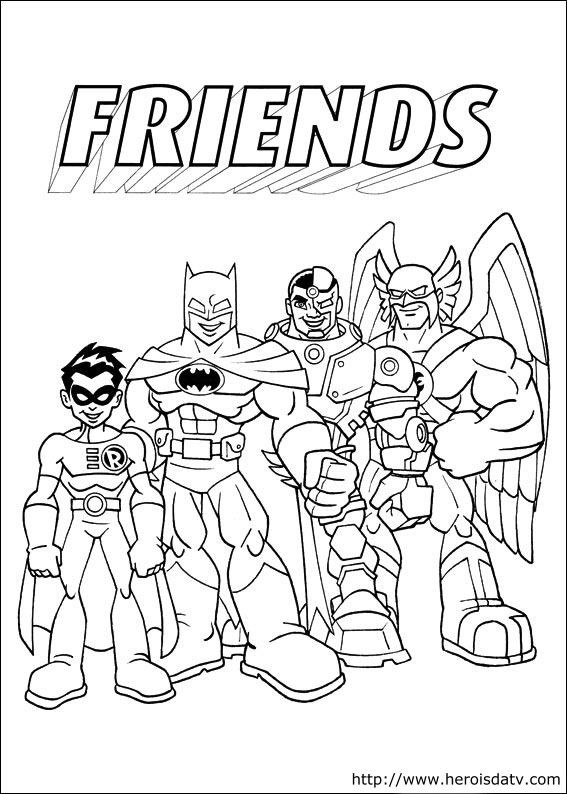Coloriage Super Heros Amis Dessin Gratuit A Imprimer