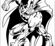 Coloriage et dessins gratuit Super Héros Batman adulte à imprimer