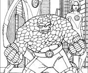 Coloriage Super Héros Les 4 Fantastiques