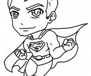 Coloriage et dessins gratuit Super Man en couleur à imprimer