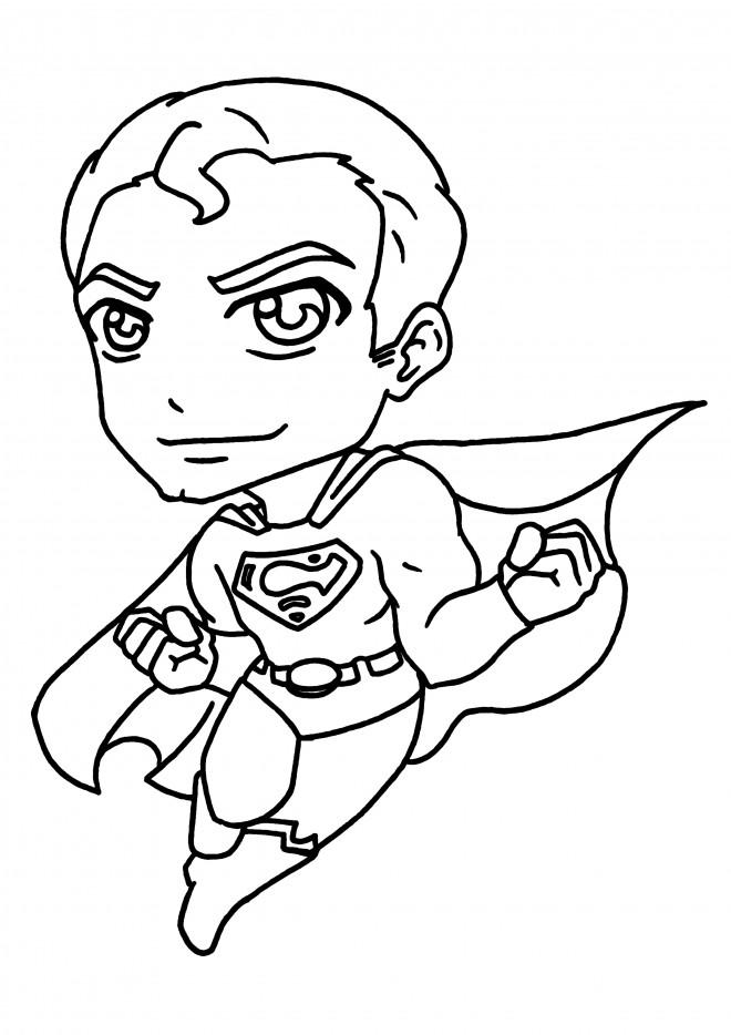 Coloriage et dessins gratuits Super Man en couleur à imprimer