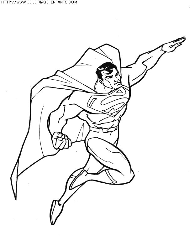 Coloriage et dessins gratuits Superman Héro à colorier à imprimer