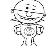 Coloriage et dessins gratuit Un Petit Super Héro à imprimer