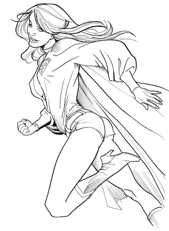 Coloriage une belle h roine dessin gratuit imprimer - Super heros a dessiner ...