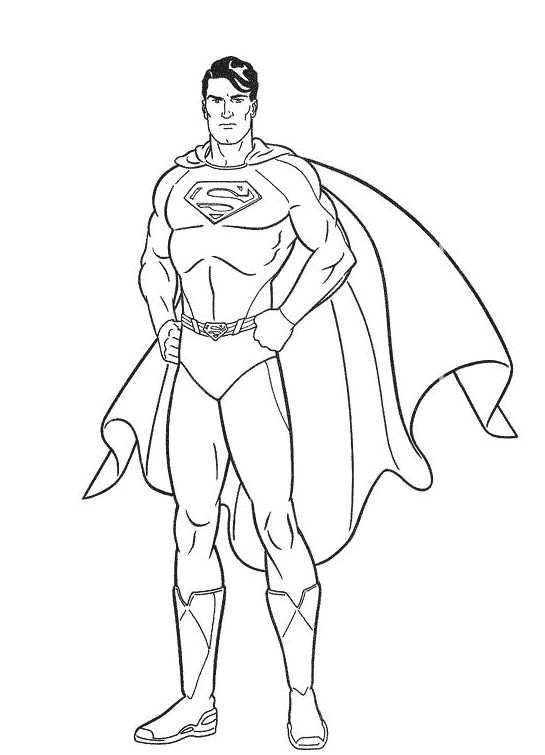 Coloriage portrait de superman dessin gratuit imprimer - Superman et batman dessin anime ...