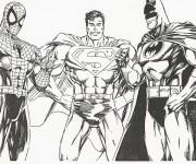 Coloriage Super Héros à découper