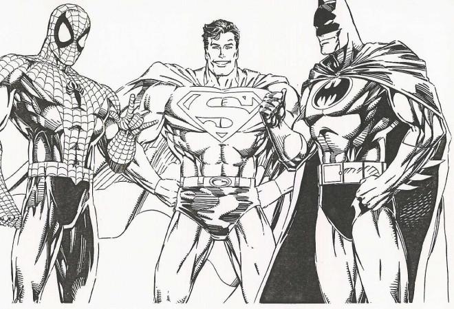 Coloriage et dessins gratuits Super Héros à découper à imprimer