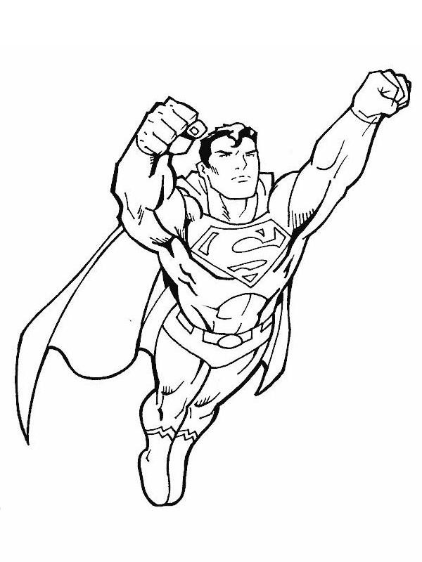 Coloriage Super Man En Vol Dessin Gratuit A Imprimer