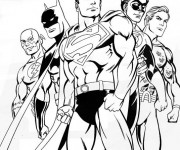 Coloriage Superman 11
