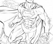 Coloriage Superman à colorier