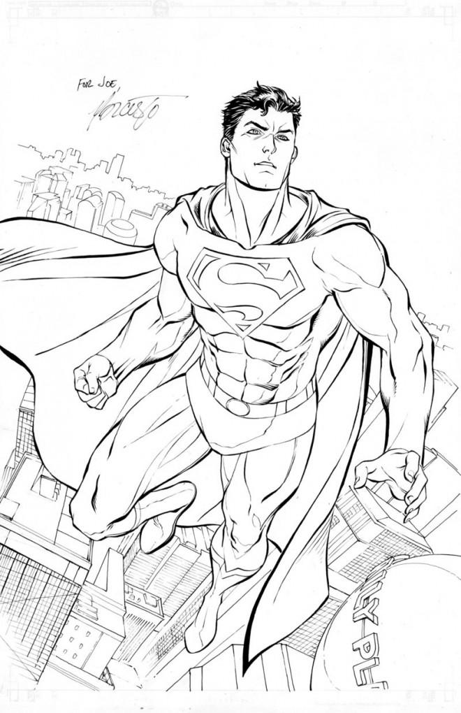 Coloriage Superman à colorier dessin gratuit à imprimer