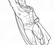Coloriage Superman à découper