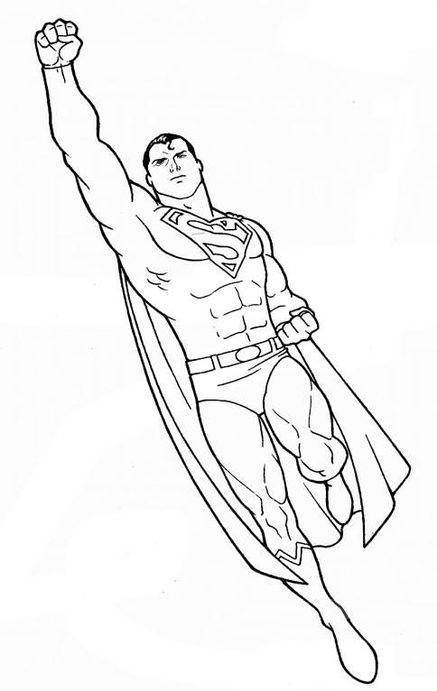 Coloriage Facile Superman.Coloriage Superman A Decouper Dessin Gratuit A Imprimer