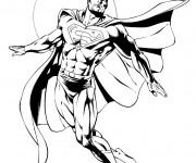 Coloriage Superman à télécharger