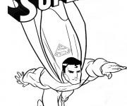Coloriage Superman bande dessinée
