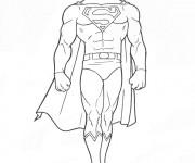 Coloriage Superman Clark Kent