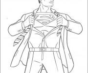 Coloriage et dessins gratuit Superman Clark  Le Journaliste à imprimer