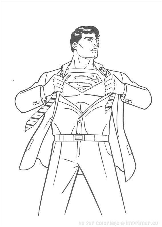 Coloriage et dessins gratuits Superman Clark  Le Journaliste à imprimer
