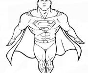 Coloriage Superman couleur