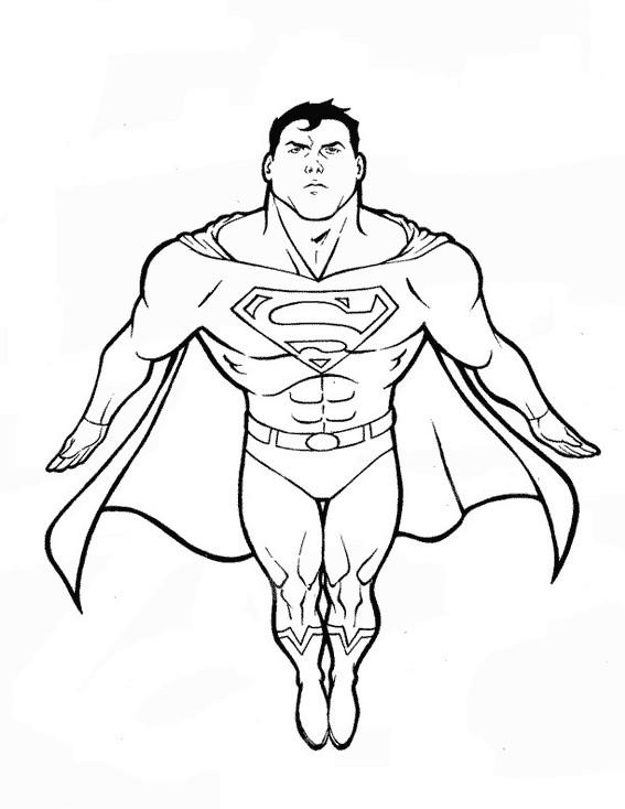Coloriage Facile Superman.Coloriage Superman Couleur Dessin Gratuit A Imprimer
